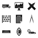 Enumerator icons set, simple style Royalty Free Stock Photos