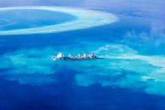 Envíe crear el nuevo atolón en los Maldivas, Ari Atolls del norte Fotografía de archivo libre de regalías