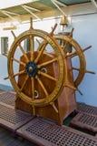 Envíe el timón en la nave de Rusia foto de archivo libre de regalías