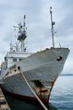 Envíe en el puerto, Kamchatka, Rusia Imágenes de archivo libres de regalías