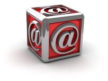 Envíe por correo electrónico alias en rectángulo Imagen de archivo