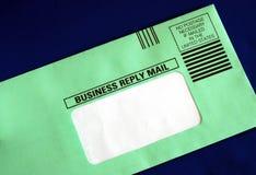 Envíe una carta de la contestación de asunto Imagenes de archivo