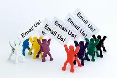 Envíenos por correo electrónico coloreó figuras Foto de archivo