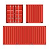 Envío de la carga, contenedores para mercancías Imagen de archivo