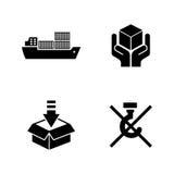 Envío de la prioridad Iconos relacionados simples del vector libre illustration