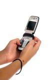 Envío de mensajes de texto Imagen de archivo libre de regalías