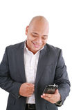 Envío de mensajes de texto del hombre de negocios Imagen de archivo