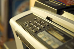 Envío de un fax Imágenes de archivo libres de regalías