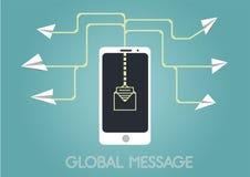 Envío del cartel del vector de los mensajes Ilustración del vector Fotografía de archivo libre de regalías