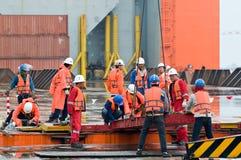 Envío del módulo de la plataforma petrolera de Tailandia a Noruega Imágenes de archivo libres de regalías