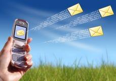 Envío del mensaje Imagenes de archivo