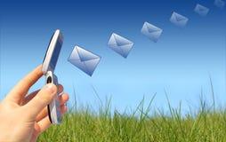 Envío del mensaje Foto de archivo libre de regalías
