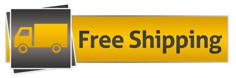 Envío gratis con Van Yellow Black Horizontal Fotografía de archivo libre de regalías