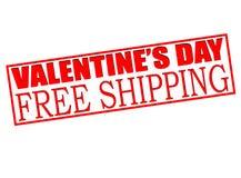 Envío gratis de la venta del día de San Valentín ilustración del vector