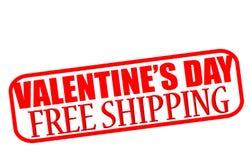 Envío gratis del día de San Valentín ilustración del vector