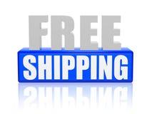 Envío gratis en las letras 3d y bloque Imagen de archivo libre de regalías