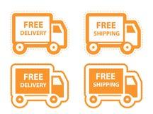 Envío gratis, sistema del icono de la entrega. vector Fotografía de archivo libre de regalías