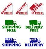 Envío gratuito, iconos gratuitos de la entrega Imagenes de archivo