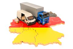 Envío y entrega en el concepto de Alemania, representación 3D libre illustration