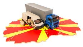 Envío y entrega en el concepto de Macedonia, representación 3D libre illustration