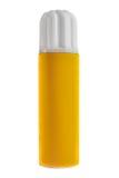 Envase amarillo de la presión Foto de archivo libre de regalías