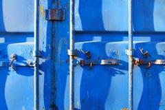 Envase azul Fotografía de archivo