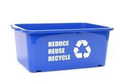 Envase azul de la disposición Fotos de archivo libres de regalías