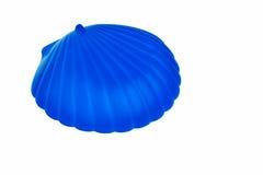 Envase azul del jabón del shell fotos de archivo