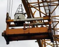 Envase Crane Grab imagenes de archivo