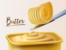 Envase cremoso de la mantequilla stock de ilustración