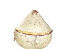 Envase de comida tradicional usado para la zona rural redonda del viaje en Etiopía imágenes de archivo libres de regalías