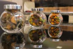 Envase de cristal Imágenes de archivo libres de regalías
