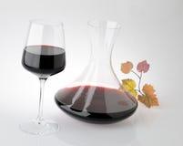 Envase de cristal para el vino Fotografía de archivo libre de regalías