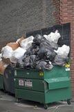 Envase de la basura Fotografía de archivo