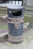Envase de la litera en las calles de Dublin Ireland fotografía de archivo libre de regalías