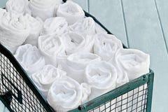 Envase de limpiar Rags Imagen de archivo libre de regalías
