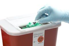 Envase de los desechos peligrosos Imagen de archivo libre de regalías