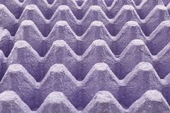 Envase de papel vacío del huevo Imagen de archivo