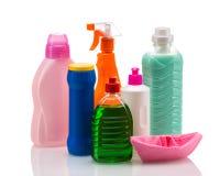 Envase de plástico del producto de limpieza para la casa limpia Imagen de archivo