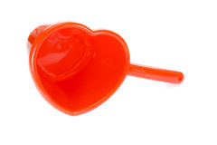 Envase de plástico rojo. Fotos de archivo