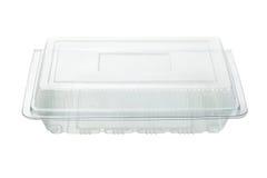 Envase de plástico vacío Imágenes de archivo libres de regalías