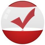 Envase de producto rojo del globo Imagen de archivo