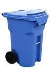 Envase de reciclaje azul imagen de archivo