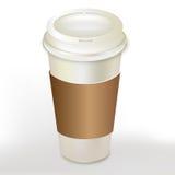 Envase del café con el casquillo Fotografía de archivo