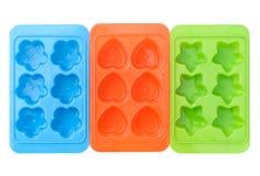 Envase del cubo de hielo Imagen de archivo