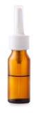 Envase del espray nasal en el fondo blanco Imagen de archivo libre de regalías