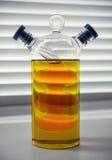 Envase doble para el aceite vegetal Foto de archivo libre de regalías
