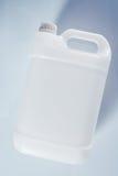 Envase líquido químico del bote plástico blanco sin etiqueta del tanque foto de archivo libre de regalías