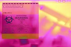 Envase médico de los sostenidos Foto de archivo libre de regalías