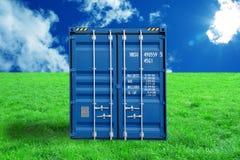 Envase para el transporte de carga Imagen de archivo